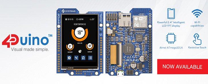 4Duino - moduł Arduino z wyświetlaczem do natychmiastowego zastosowania