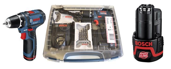 Wiertarko-wkrętarka Bosch GSR 10,8-2 Li teraz dostępna w zestawie z praktyczną walizką i 3-letnią gwarancją